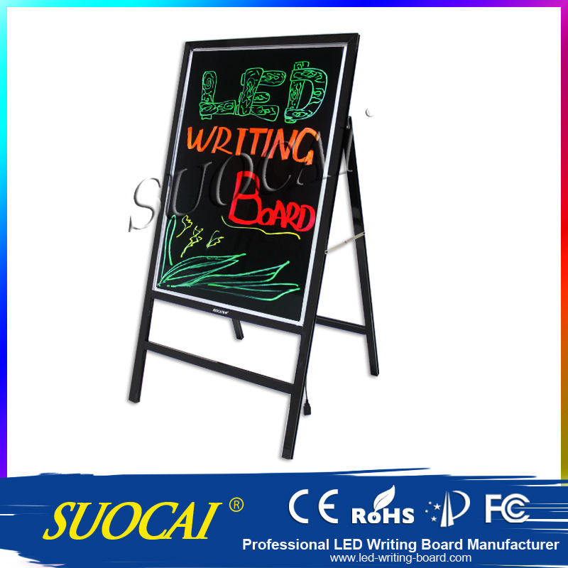 New Innovative Products Waterproof Illuminated Menu Board Chalkboard A Frame Signs