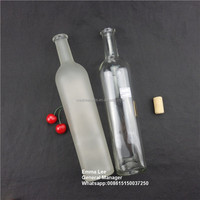 700ml 750ml alcoholic beverages clear glass bottle
