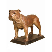 large outdoor garden modern large Vivid bronze bulldog statue for sale