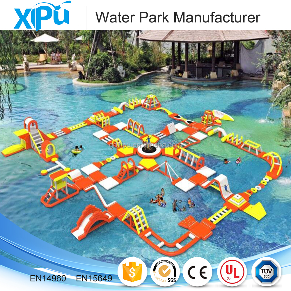 Giant adults inflatable floating water park games water equipment on sea
