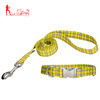 Best selling pet products custom printed dog collar leash combo for medium dogs