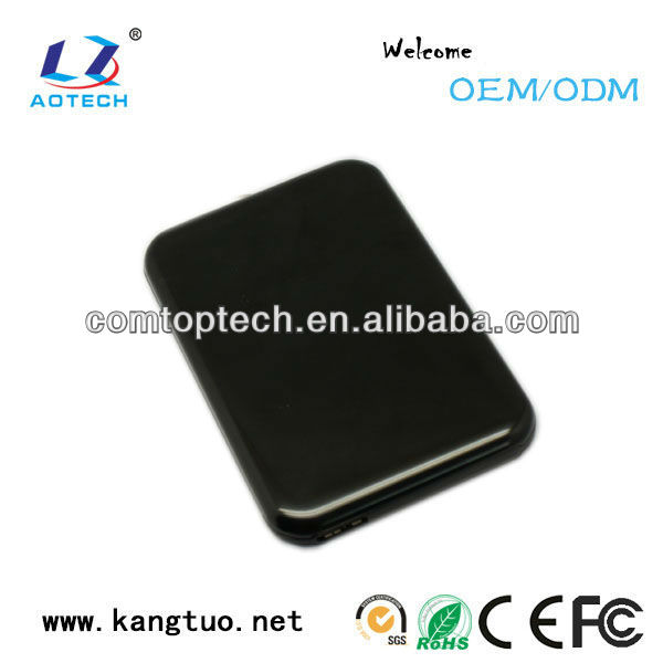 black USB3.0 hard drive carrying case