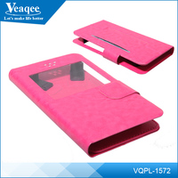 Veaqee custom logo pu leather smart mobile phone case for lenovo
