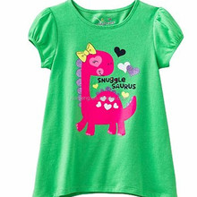 summer plus size style hot sale breathable beautiful quick dry children green classic t-shirt brands