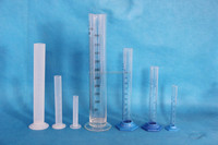 Graduated cylinder, glass and plastic /Chemistry Laboratory instruments