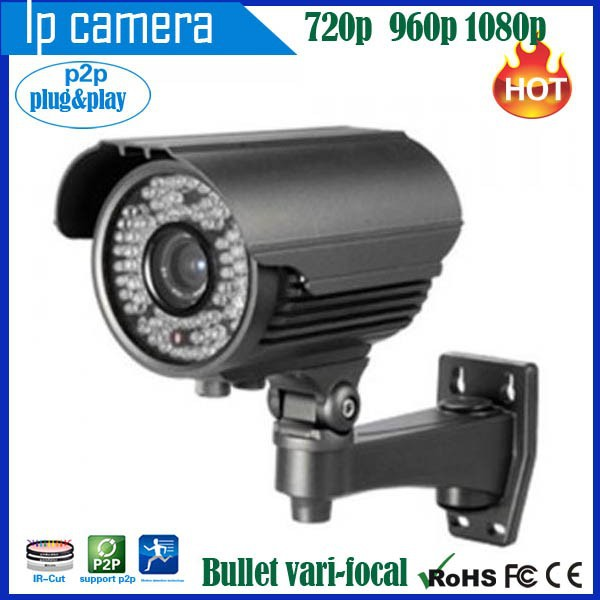 TL-MDRB-05 HD indoor outdoor vari-focal zoom IR night vision security bullet cctv p2p ip action video camera