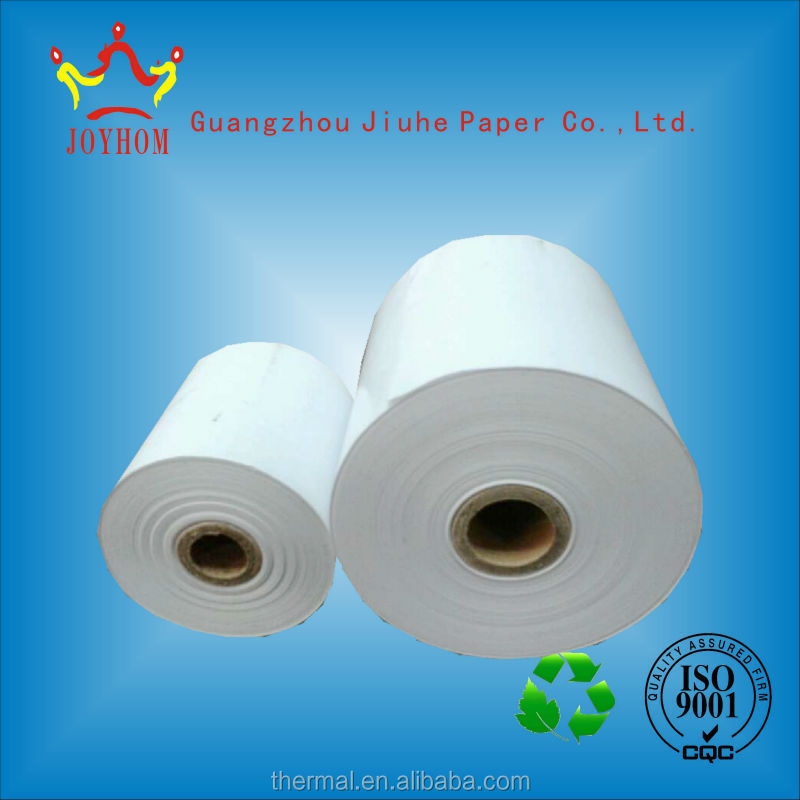 High quality soomth thermal cheap cash register paper roll for rewinding slitter machine