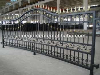 Fashion and decorative wrought iron fence and gate SG-15F006