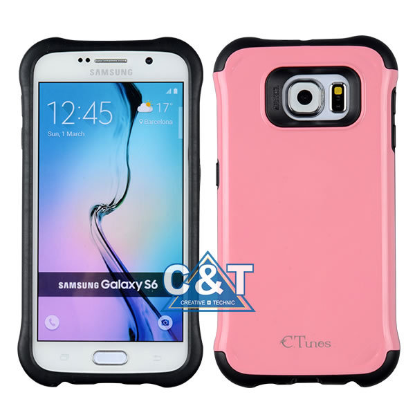 C&T High impact dual layer tpu combo plastic case for for samsung galaxy note 5