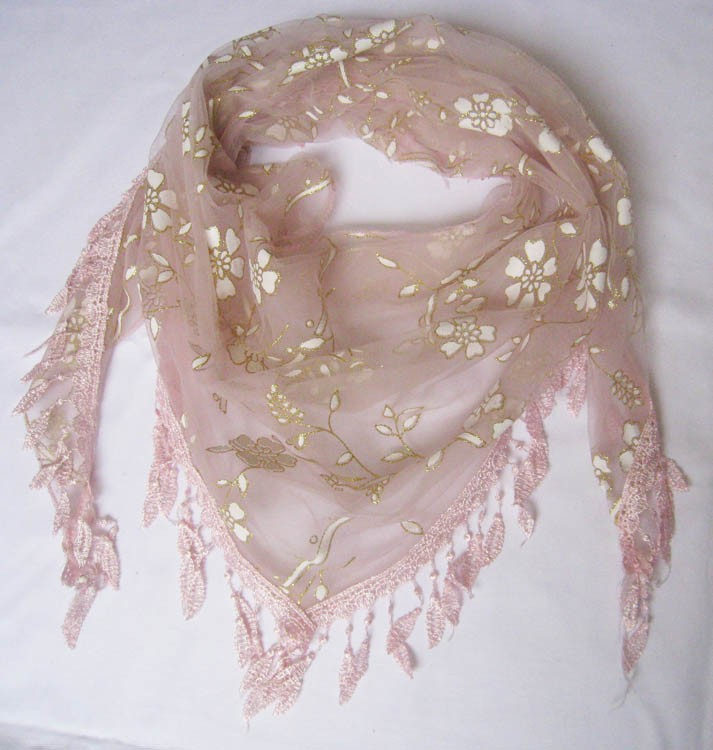 Fashion Ladies Triangle Summer Lace Fringe Scarf