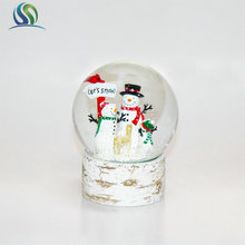 120*120mm Christmas Snow Man Deer Elk Artificial Crystal Glass Ball Decoration Kid Toy Gifts Ornaments Item
