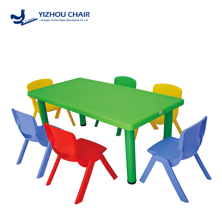 Colourful safety child chairs and table