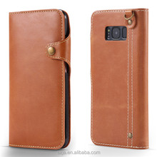 2017 new for samsung galaxy s8 PU Wallet Case Hand Strap Holder in Card Mobile Phone Case for samsung s8 / s8plus