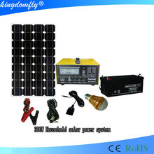 smart 300w solar power system kit from shenzhen factory for Bruma market