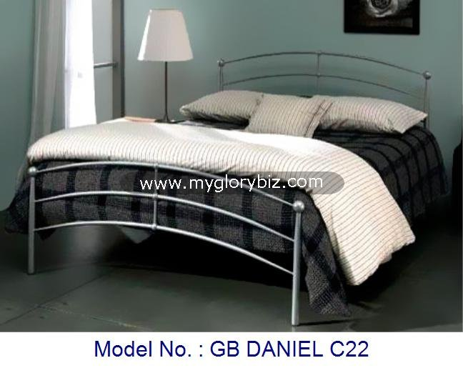 New Bedroom Bed Furniture Made With Metal For Home In Simple Style Contemporary Designs