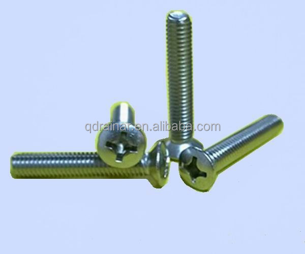 din966 din965 Zinc Plated cross raised pan head counter sunk head machine screw