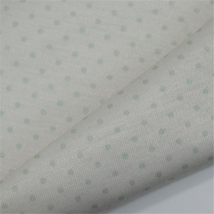 100% Polyester custom logo printed cotton double knit fabric