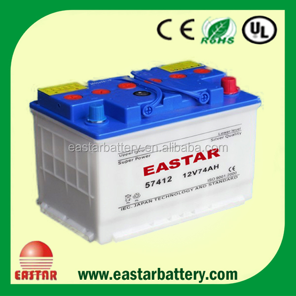 N70 12V70AH dry charged used car battery for sale