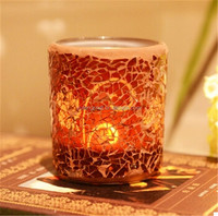 glass votive candle holder mosaic glass candlestick for bar decoration