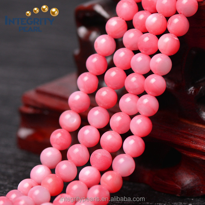 6mm special natural pink tridacna beads, gemstone loose, wholesale gemstone beads
