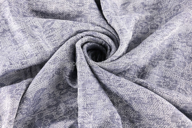 linen jacquard fabric for dress