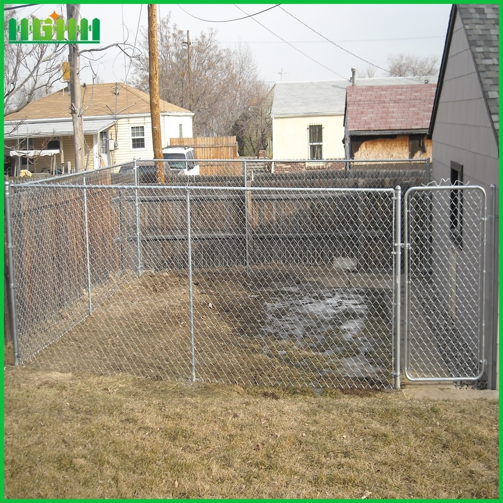2016 hot sale electro galvanized chain link fence