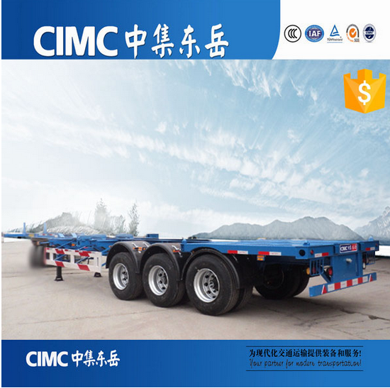 CIMC 2017 New Design 40FT Skeleton Semi Trailer Container Chassis