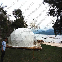 Customized aluminum frame large dome tents rope for camping hotel