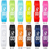 Factory Price Custom Design Touch Screen LED Rubber Sport Wirst Silicone Watch