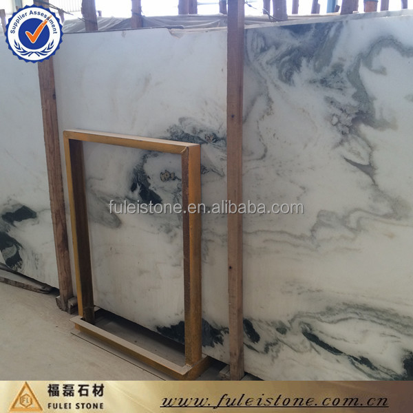 Polished Bookmatch white marble for wall decoration