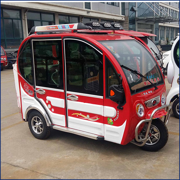 800W 48V passenger use mini type closed 3-wheel electric motorcycle car for adults
