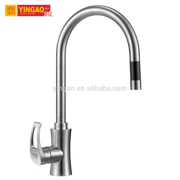 Single Handle brushed surface High UPC Pull down Kitchen Faucet