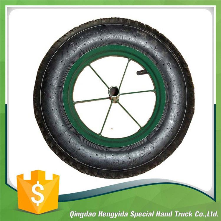 inflatable rubber pneumatic tubless wheels 3.50-8