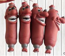 Funny pet dog toys sausage squeaky pet toys healthy pvc dog toys suppliers