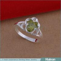 2015 New Wholesale nice green stone ring design for ring jewelry