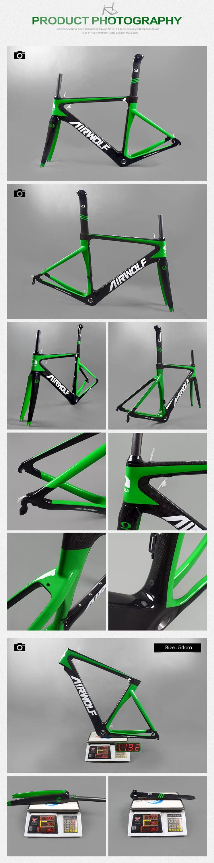 Airwolf bicycle frame carbon  for Mechanical/DI2 both carbon aero road frame