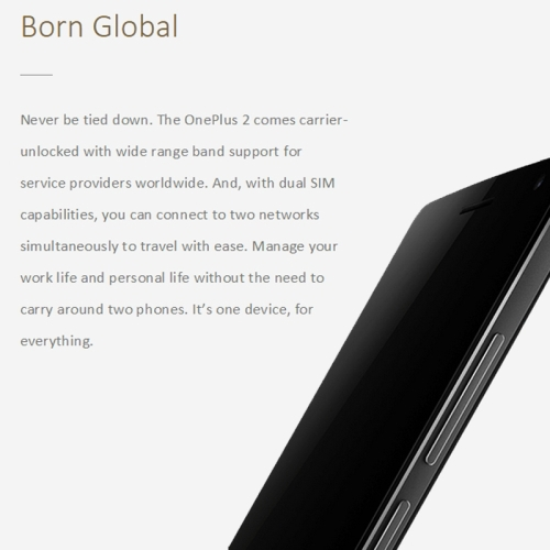 Original One Plus Two 5.5 inch OxygenOS Smart Phone, Qualcomm Snapdragon 810 Octa Core 1.8GHz, ROM: 64GB, RAM: 4GB, Support