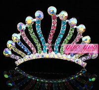 fashion doll pageant mini rhinestone tiara crown