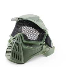 Green Party Halloween Ghost Mask Cosplay Skull Mask Mesh Goggles Wargame Mask for Paintball