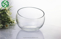 custom glassware manufactures slant vase glass/cheap glass vase for wedding flowers arrangement