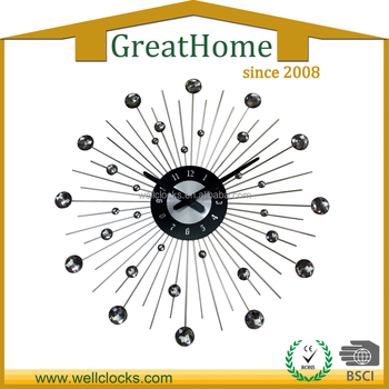[Delivery in 7days ] Large Size 20inch Star Shining Home Decor Metal Wall Clock