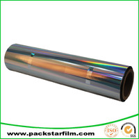 custom cheap metallized aluminum pet film with many colors