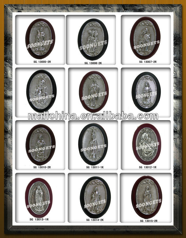 Religious Polyresin and plating frame icons