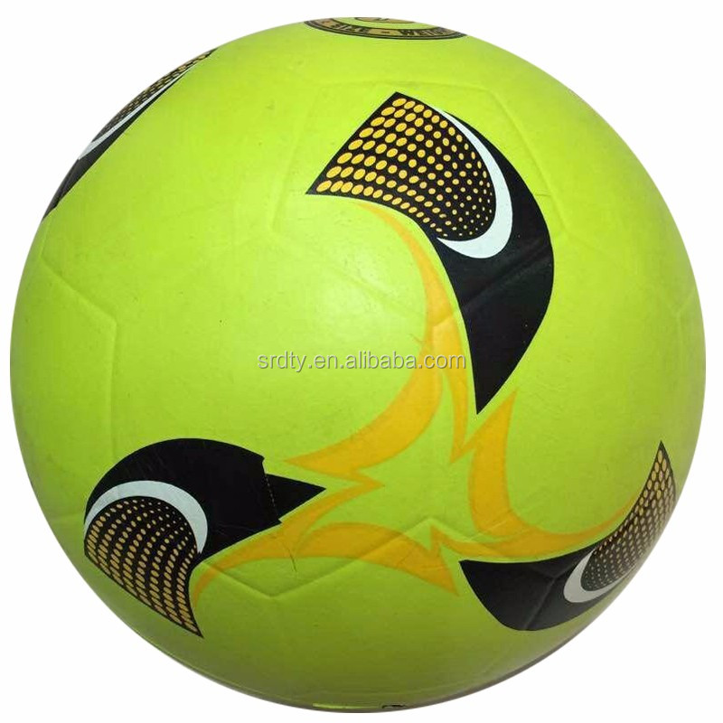 Custom color and design Rubber soccer ball from size 5-size 1