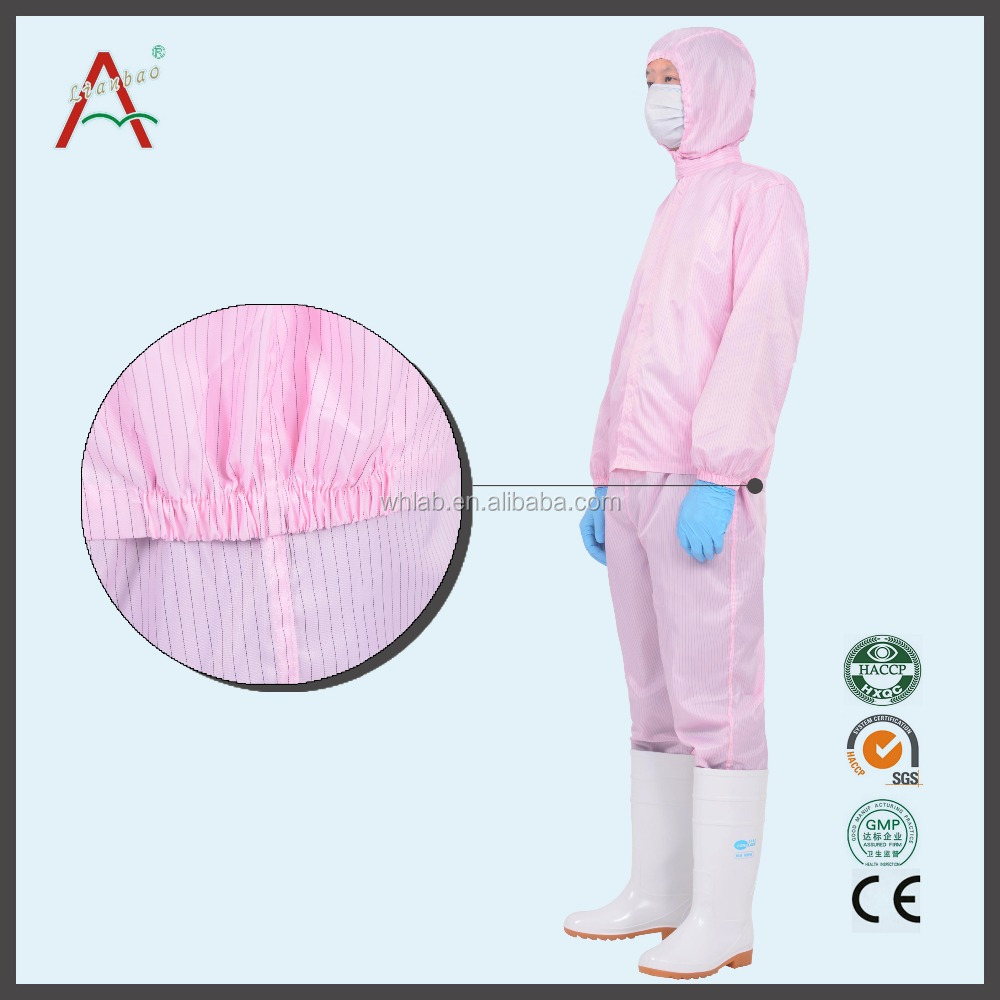 Factory supply food factory Pharmaceutical factory blue clean clothes Binary fission anti-static clothing Fission smock