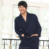 navy blue shawl collar modal japanese bathrobes sex doll for men