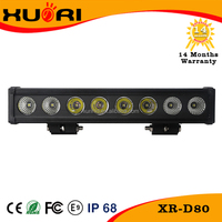 80W 15 inch Single Row LED Light Bar for truck machine heavy duty boat High Lumen 10400lm lightbar