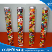 Best selling solid plastic clear acrylic candy cane tube