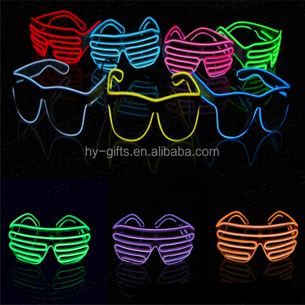 hot sale multicolor bright led glasses festival glowing el glasses