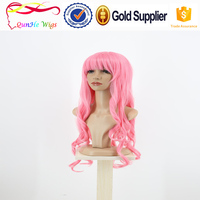 Long kinky wave synthetic coloured hair extension specialist sexy party wig
